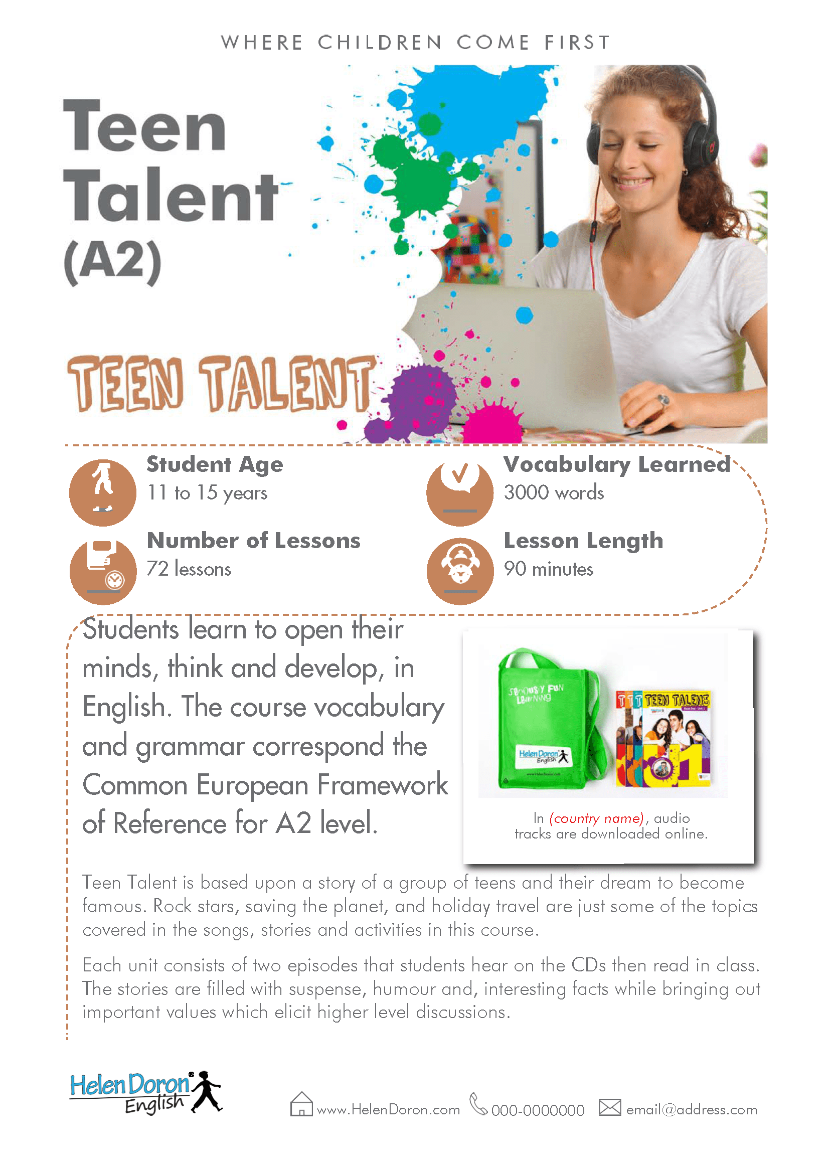 Descargar - Teen Talent (A2)‎