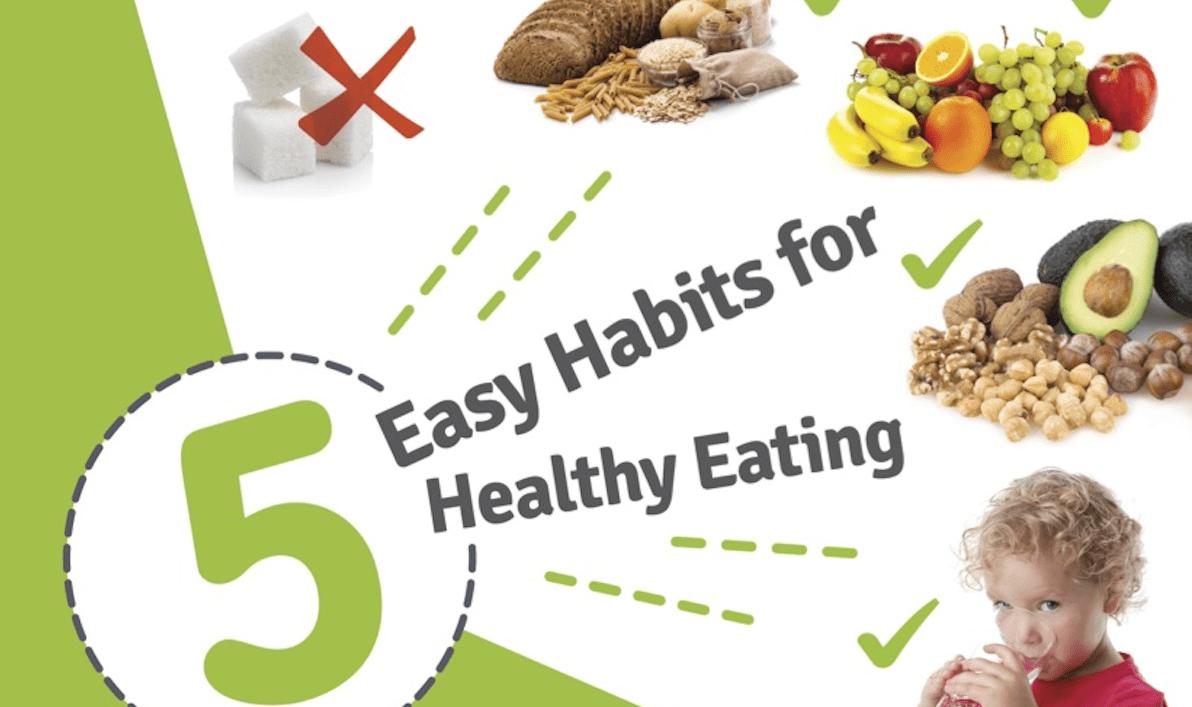 Hábitos de comida saludable para niños