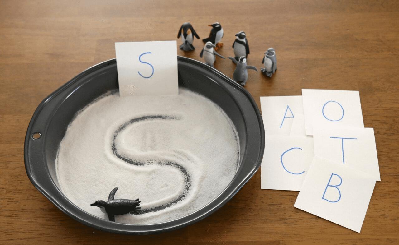 Lectoescritura con pingüinos