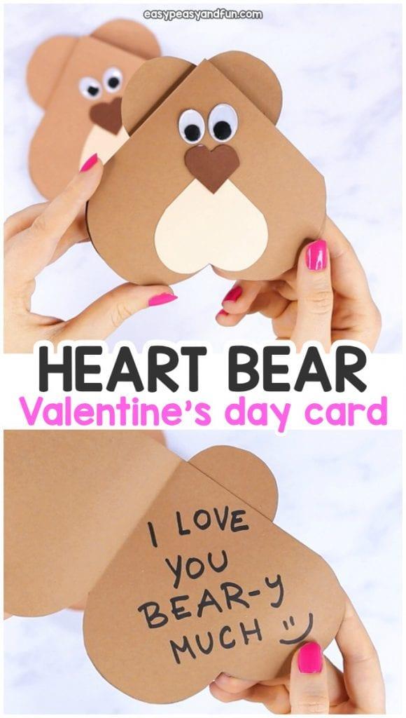 Heart Bear Valentine's Day Card