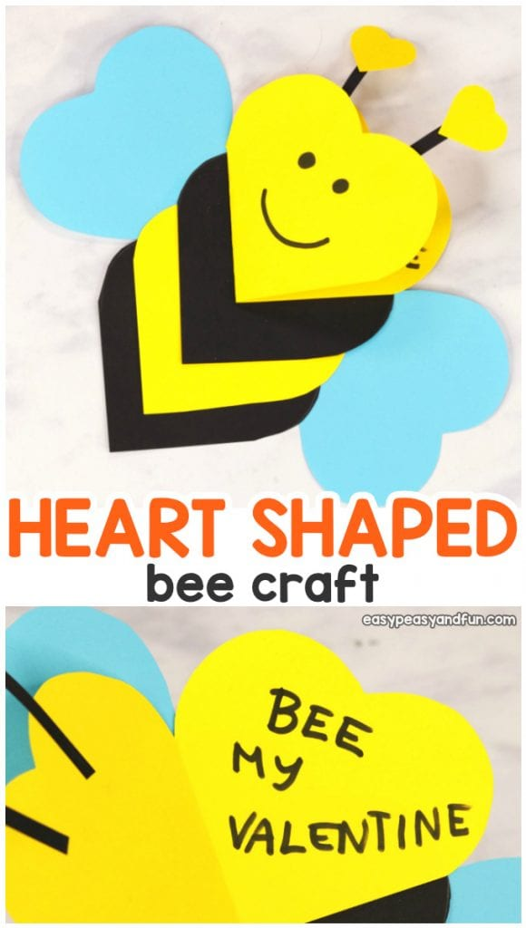 Heart Bee Craft for Valentine's Day