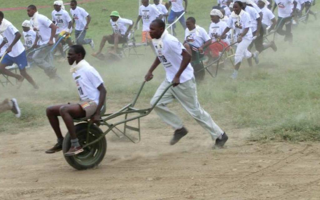 Wheelbarrow Racing